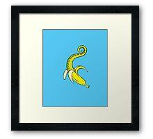 Banana Squid Blue Framed Print