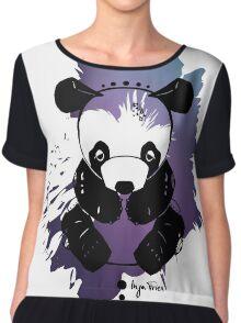 Little Sad Panda Chiffon Top