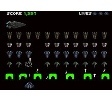 Elite Dangerous vs Space Invaders Photographic Print