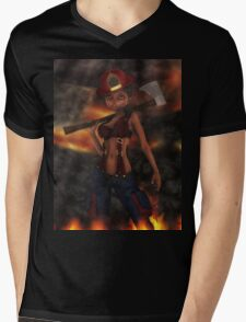 Big Head Betty 5  Mens V-Neck T-Shirt