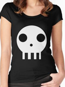 Skull Design Women's Fitted Scoop T-Shirt