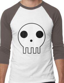 Skull Design Men's Baseball ¾ T-Shirt