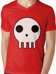 Skull Design Mens V-Neck T-Shirt