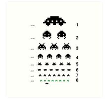 Space Invaders Gamers Eye Test Art Print