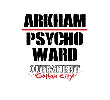 Arkham Psycho Ward - White Photographic Print