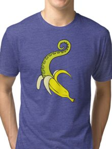 Banana Squid Aqua Tri-blend T-Shirt
