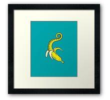 Banana Squid Aqua Framed Print