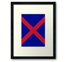 Red X Framed Print