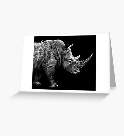 SAFARI PROFILE - RHINO BLACK EDITION Greeting Card