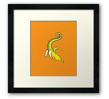Banana Squid Orange Framed Print