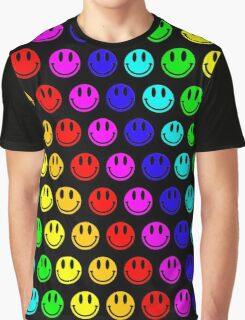 rainbow smiley's Graphic T-Shirt