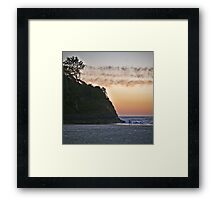 salmon sunset Framed Print