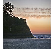 salmon sunset Photographic Print