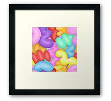 Random Colourful Abstract Bubble Shapes Framed Print