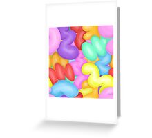 Random Colourful Abstract Bubble Shapes Greeting Card