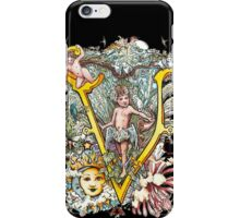 The Illustrated Alphabet Capital V (Fuller Bodied) iPhone Case/Skin