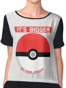 Pokemon - It's bigger on the inside.. Chiffon Top