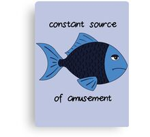 Amusement Fish Canvas Print