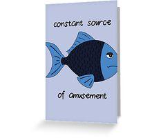 Amusement Fish Greeting Card