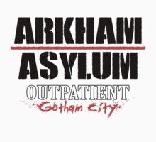 Arkham Asylum - White T-Shirt