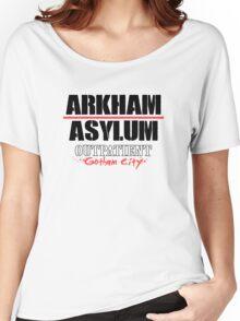 Arkham Asylum - White Women's Relaxed Fit T-Shirt