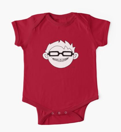 Superhero and nerd with braces and black glasses One Piece - Short Sleeve