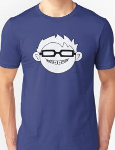 Superhero and nerd with braces and black glasses Unisex T-Shirt