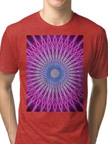 Mandala in light blue and pink colors Tri-blend T-Shirt