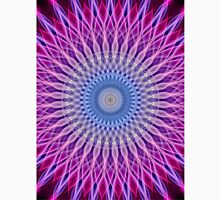 Mandala in light blue and pink colors Unisex T-Shirt