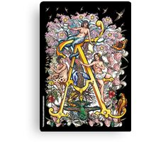The Illustrated Alphabet Capital A (Fuller Bodied) Canvas Print