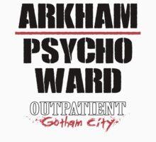 Arkham Psycho Ward - White T-Shirt