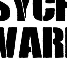 Arkham Psycho Ward - White Sticker