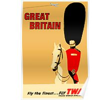 """TWA AIRLINES"" Fly to Great Britain Advertising Print Poster"