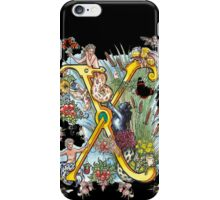 The Illustrated Alphabet Capital X (Fuller Bodied) iPhone Case/Skin