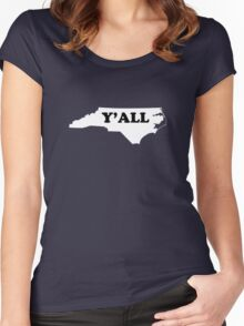 North Carolina Yall Women's Fitted Scoop T-Shirt