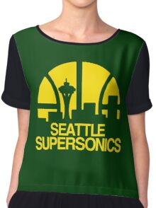 SEATTLE SUPERSONICS BASKETBALL RETRO Chiffon Top