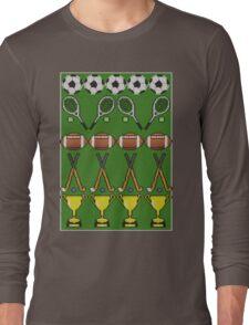 Sporty Knit Long Sleeve T-Shirt
