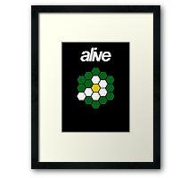 alive HEXAGONSUN Framed Print