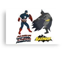 Captain America vs. Batman Metal Print