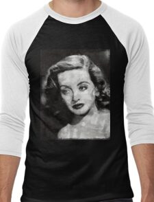 Bette Davis Vintage Hollywood Actress Men's Baseball ¾ T-Shirt