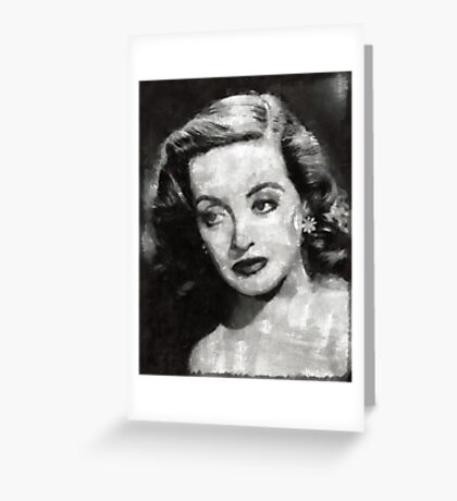 Bette Davis Vintage Hollywood Actress Greeting Card