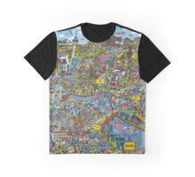 Illustrated map of Berlin Graphic T-Shirt
