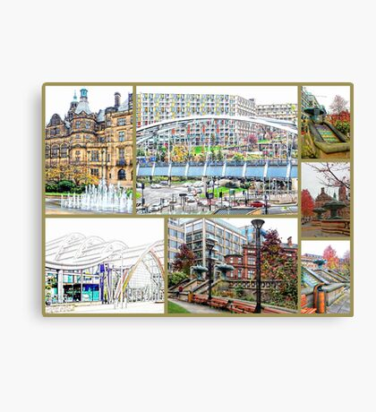 Sheffield Collage Canvas Print