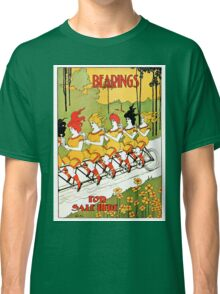 Vintage art Nouveau funny girls on a tandem bicycle Classic T-Shirt