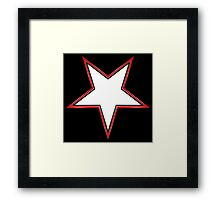 Inverted Bordered Star Framed Print