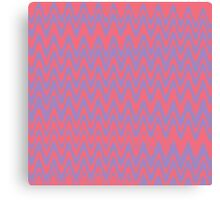 Pink and purple wavey lines pattern Canvas Print