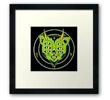 6xEyes Satanic Cat Framed Print