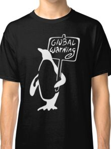 Global Warning on Black Classic T-Shirt