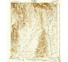 USGS TOPO Map Arizona AZ Red Hill 314950 1939 62500 Photographic Print