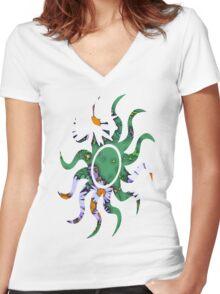 Summer Daisy Women's Fitted V-Neck T-Shirt
